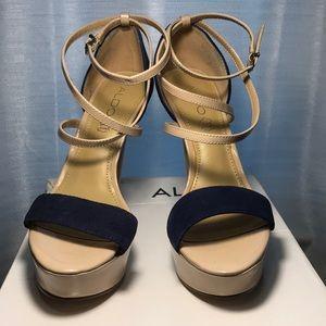 Aldo ankle strap platform heels